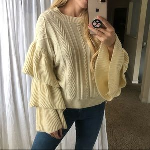 Sweaters - Tiered Sleeve Sweater